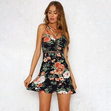 3c169b3e167d item 3 Sexy Womens Boho Floral Strappy Dress Summer Beach Party Cocktail  Sundress -Sexy Womens Boho Floral Strappy Dress Summer Beach Party Cocktail  ...