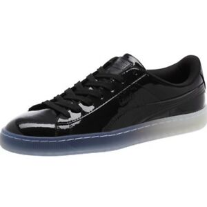 Men-039-s-NWOB-Puma-6-5-6-1-2-Basket-Patent-Ice-Fade-Black-Patent-Leather