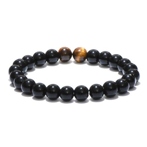 Charms HOMME PIERRE NATURELLE Tiger Eyes Beads Bracelets Méditation Yoga Bracelets