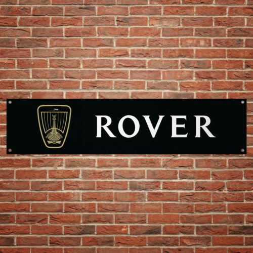 Rover Banner Garage Workshop PVC Sign Trackside Car Display BLACK