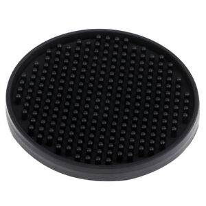 Round-Drink-Coasters-Soft-Silicone-Cup-Holder-Mat-Tableware-Placemat-Black