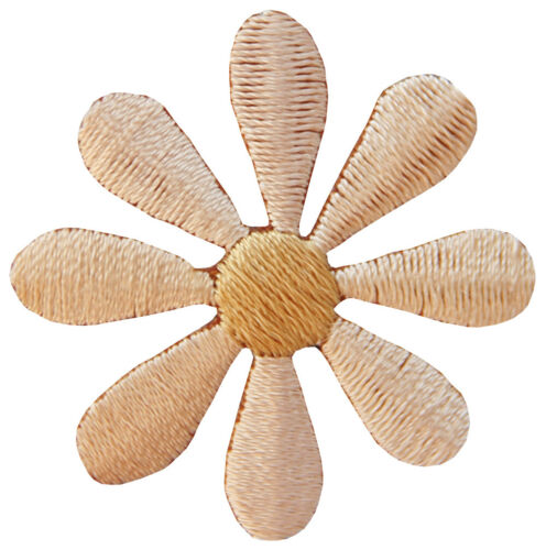 Ap80 fleur marron petit écusson fleur Bügelbild Application Enfants 3,5 x 3,5 cm