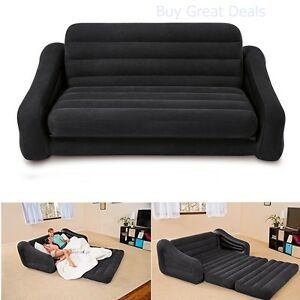 Details About Pull Out Sofa Futon Queen Inflatable Bed Air Mattress Dorm Sleeper New