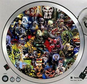 Iron-Maiden-Eddie-1-Turntable-Slipmat-12-034-LP-Record-Player-DJ-Slip-Mat-x1