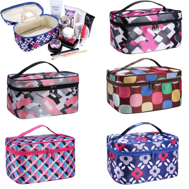 New Multifunction Travel Cosmetic Bag Makeup Mirror Case Toiletry Wash Organizer