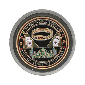 NEW At The World Series It's All About The Bracelet Poker Card Guard *GOLD*