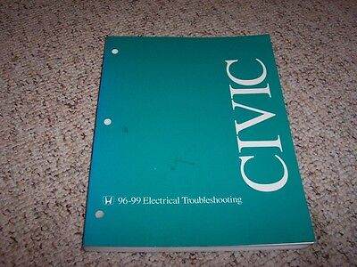 19961999 honda civic electrical wiring diagram manual 1997 1998 dx hx ex  si  ebay
