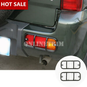 Metal-Car-Rear-Bumper-Fog-Light-Frame-Trim-Cover-2pcs-For-Suzuki-Jimny-2007-2017