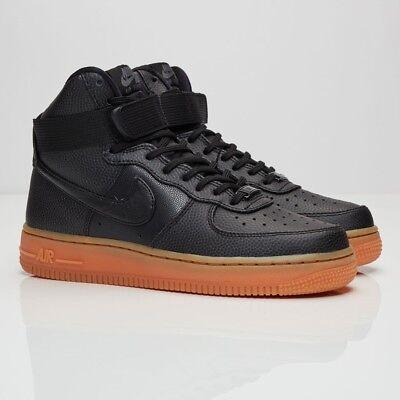 Nike Womens Air Force 1 HI SE Trainers Hi Top Shoes Black Gum SIZE 4 4.5 eBay  eBay