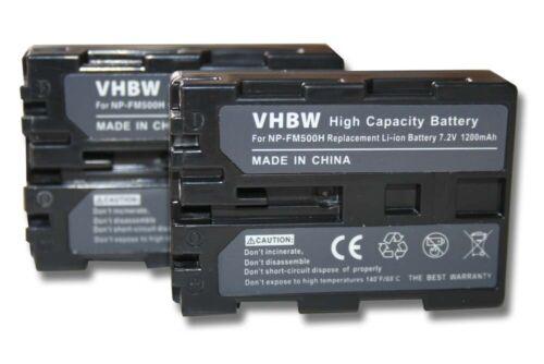 2x Battery 1200mAh for Sony Alpha SLT-A57Y SLT-A65V