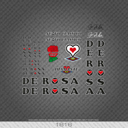 1816 De Rosa Nouvo Classico Diamante Bicycle Stickers Transfers Decals