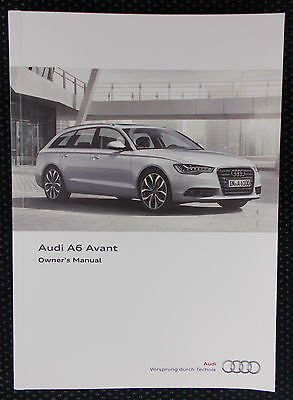 Audi collection on ebay genuine audi a6 avant c7 owners manual handbook 112011 edition publicscrutiny Images