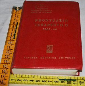 PRONTUARIO-TERAPEUTICO-1965-66-Societa-editrice-universo-SEU-libri-usati
