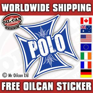 POLO-IRON-CROSS-car-sticker-blue-old-school-MK1-G40-MK2-85mm