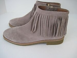 62f9f5c8350f Kate Spade Betsie Too Fringed Beige Suede Ankle Boots Booties Size ...