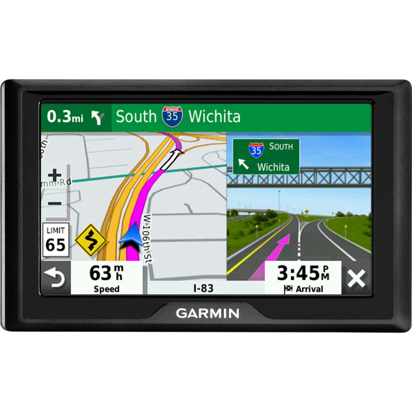 """Plus Information to enrich Road Trips /& Air Vent Mount Standard Packaging Traffic alerts Garmin Drive 52 /& Traffic: GPS Navigator with 5/"""" Display Features Easy-to-Read menus and maps"""