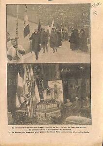 Ceremonie-Paray-le-Monial-Flag-Drapeau-Sacre-Coeur-Chasse-WWI-1917-ILLUSTRATION