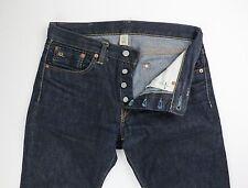 RRL Double RL Mens Dark Wash Slim Fit  Selvedge Denim Jeans Size 30 32 x 33 $300