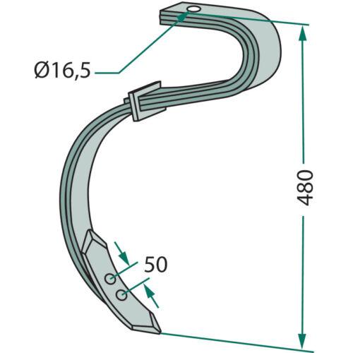 Zinken 2 1//2-lagig kpl mit Schar passend für Ventzki  50 x 7mm