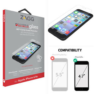 check out 354a0 f6f74 Details about New ZAGG Invisible Shield iPhone 8 Clear HD iPhone 7/6/6S  Glass Screen Protector