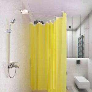 Image Is Loading Foldable Shower Curtain Rod Pole Rail Fan Shaped