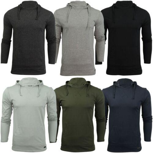 Mens Hooded T Shirt Brave Soul Morris Long Sleeve Track Top
