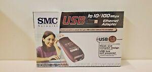 Brand-New-Sealed-SMC-USB-vers-10-100-Mbps-Ethernet-Adaptateur-Conducteur-LIVRAISON-GRATUITE