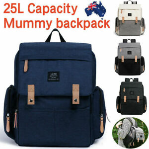 2019-GENUINE-LAND-Multifunctional-Babys-Diaper-Backpack-Changing-Bag-Nappy-Mummy