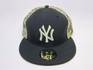92dff3fcf36 New Era Men s MLB New York Yankees 5950 Custom Fitted Cap  Black ...