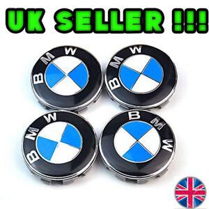 BMW-ALLOY-WHEEL-CENTRE-HUB-CAPS-E30-E36-E46-E92-1-3-5-6-7-X5-X6-M3-M5-M6-Z4-68mm