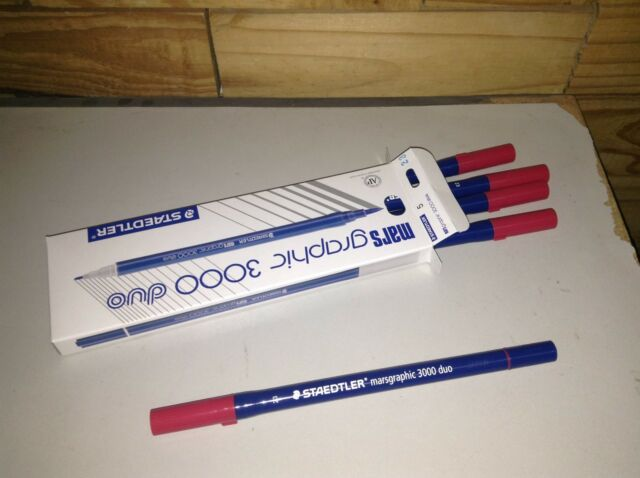 Twin 036 INDIGO Staedtler Mars Graphic 3000 Brush Marker 5pcs//pack