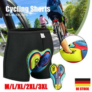 Fahrradhose Herren Damen Radhose 5D Gel Sitzpolster Unterhose Radfahren Shorts