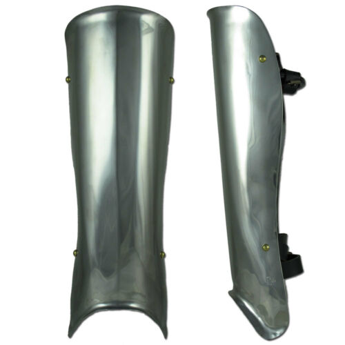 Medieval Warrior stainless steel Larp Ren Faire Pair Basic Leg greaves armor