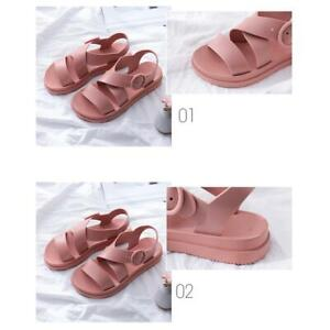 Women-Girl-Flat-Ankle-Strap-Open-Toe-Sandals-Gladiator-Casual-College-Shoes-Size