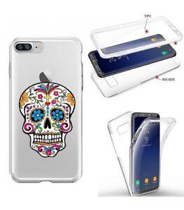 Détails sur Coque Iphone 6 6S integrale mort mexicaine calavera fleur transparente