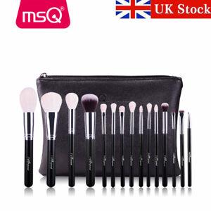 Image is loading UK-15PCs-Makeup-Brush-Set-Powder-Cosmetic-Natural-