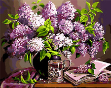 """New DIY Paint By Number 16*20"""" kit Oil Painting On Canvas Retro Lavender 1639"""