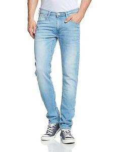 027a023f Lee Luke Slim Tapered Denim Jeans New Mens Stretch Regular Rise ...