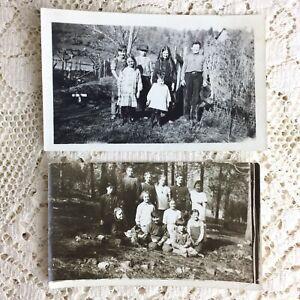 Antique Photo Young School Children Little Boys Girls 1916 Walker Coleville CA
