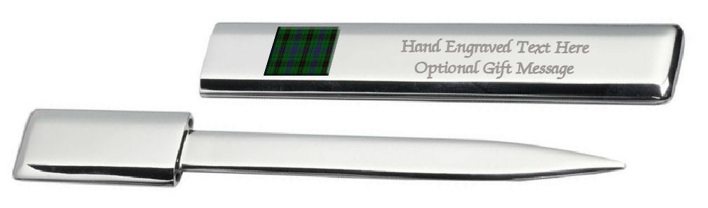 Engraved Letter Post Scottish Bottle Opener Clan Davidson