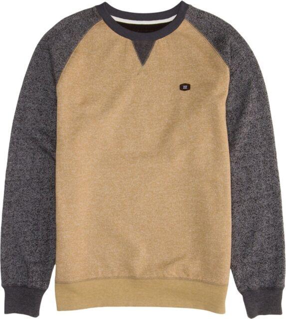 Billabong Balance Crew Balance Pullover Fleece Sweater Knit  Shirt Sz Large