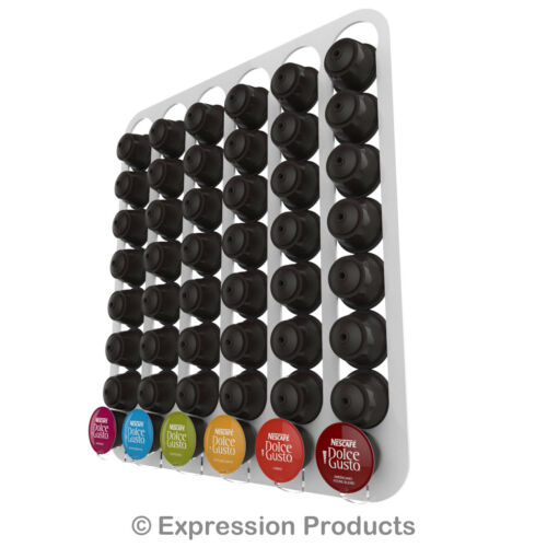 rack holds 48 capsules wall mounted Dolce Gusto coffee capsule pod holder
