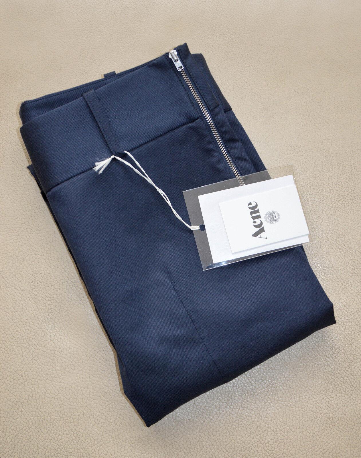 ACNE Best Low Dark bluee Straight Pants NWT, size 36