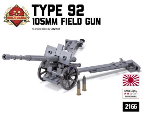 Brickmania Lego ww2 Japanese Type 92 Howitzer custom