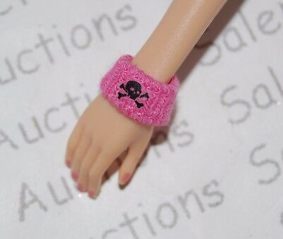 NEW Barbie 2006 Hard Rock Cafe HRC Skull Pink Wristband Cuff Model Muse Loose