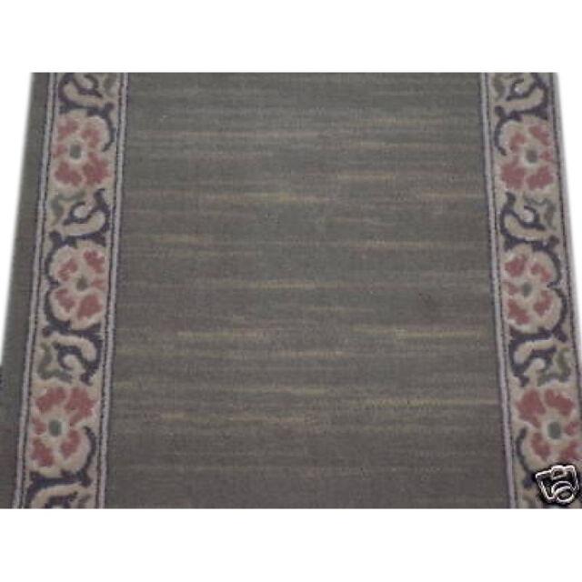 Wool fireplace door hearth light green border modern soft mat 2x4ft /60x120 cm
