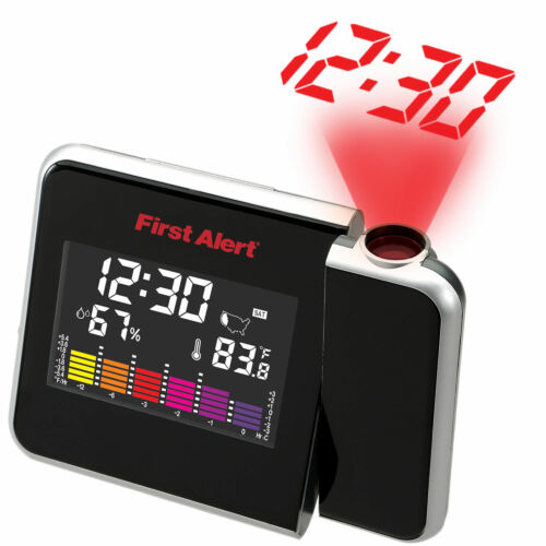 FIRST ALERT INDOOR TEMPERATURE STATION WITH PROJECTION CLOCK COLOR DISP #SFA2200