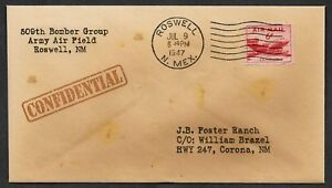Roswell-New-Mexico-Alien-UFO-Crash-Site-Conspiracy-Collector-Envelope-1001OP
