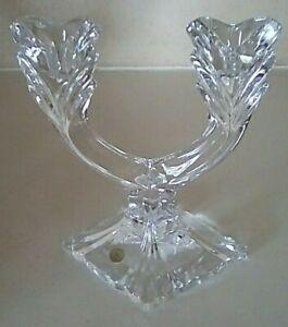 Vintage Slovakia Crystal Candle Holder