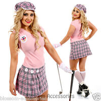 I80 Womens Pub Golf Sports Fancy Dress Costume Ladies Hen Night Golfer Outfit